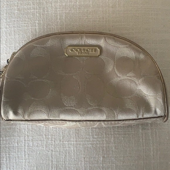 Coach Other - EUC authentic Coach Gold make up bag